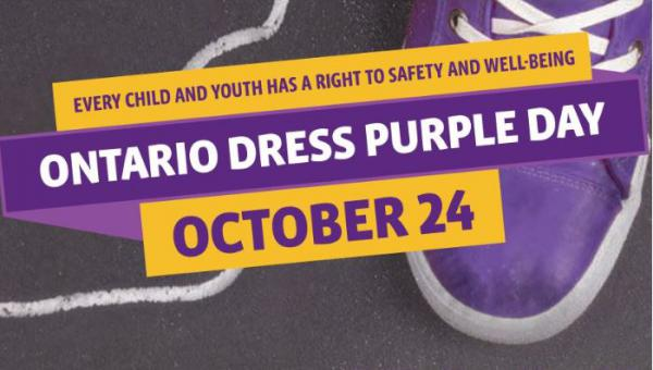 Wear purple to raise awareness about domestic violence and truth and reconciliation